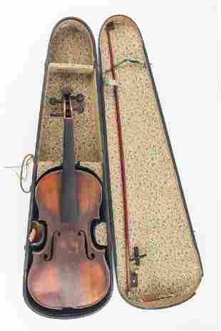 Vintage Full Size Violin With Case