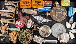 Advertising Items and Metal Soldiers