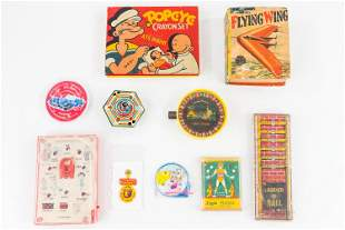 Miniature Pinball Games and Other Toys