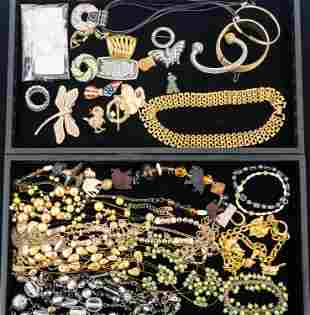 Mixed Costume Jewelry (Two Trays)