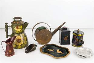 Toleware Painted and other Tin Items
