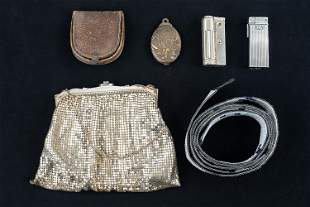 Whiting & Davis, Purse, Lighters & a Frame