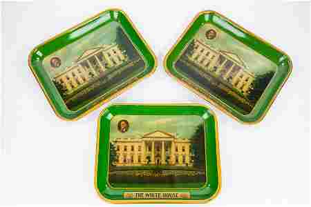 "FDR ""The White House"" Serving Trays (3)"