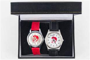 A Pair of Jerry Lewis Character Watches