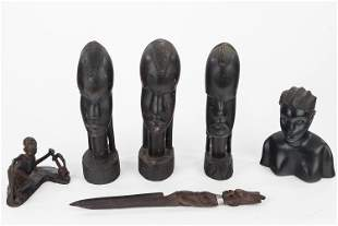 Wooden Carved African Figures