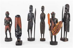 Carved African Figure Grouping