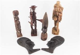 Carved African and Other Figures and Plaques