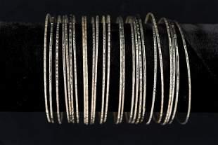 (25) Silver Color Bangles