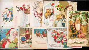 (10) Vintage Santa Christmas Cards