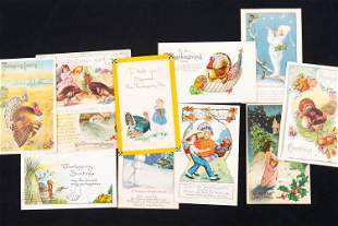 Vintage Thanksgiving and Christmas Cards