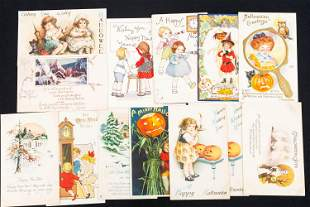 Vintage Halloween and New Year's Cards