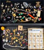 Masonic and Costume Jewelry (2 Trays)