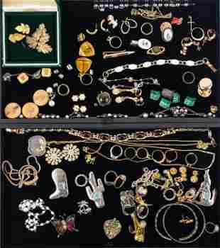 Costume Jewelry Grouping (2 Trays)