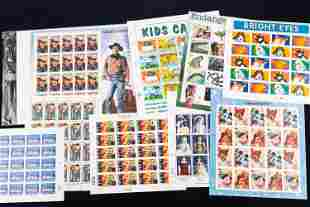 US Postal Stamps Full Sheets