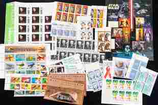 US Postal Stamps Full and Partial Sheets