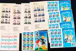 US Postal Stamps Sheets and a Set