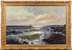 E. Salvi (Italian, 20th C) Oil on Board, The Ocean