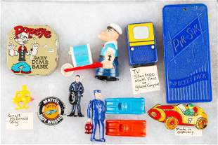 Popeye Related and Other Collectibles
