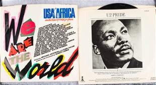 """""""U2 Pride"""" and """"We Are the World"""" 45s"""