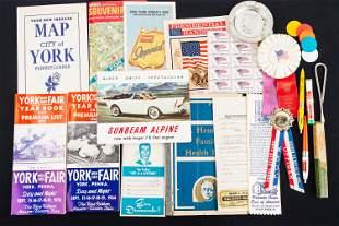Vintage World's Fair & York Fair Maps