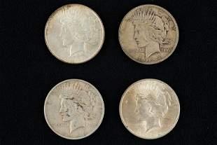 Liberty Head Peace Dollars (4)
