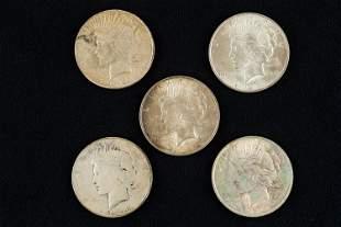 Liberty Head Peace Dollars (5)