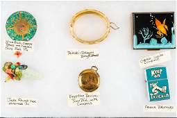 Jade Pin, Costume Jewelry, and Related
