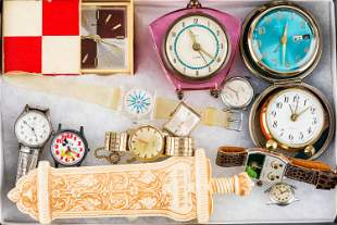 Various Watches and Clocks