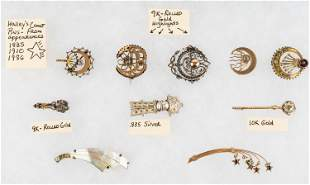 Collection of Vintage Halley's Comet Pins