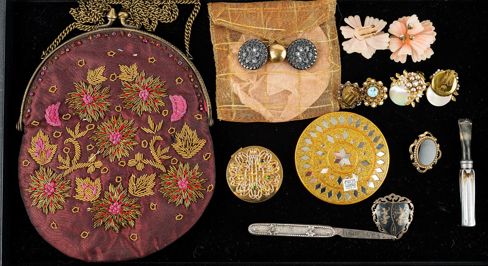 Vintage Purse, Costume Jewelry, and Other Items
