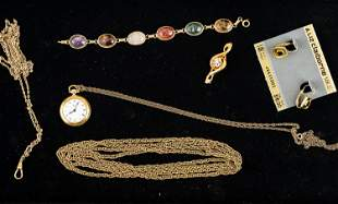 Gold Filled/Plated Jewelry, Pocket Watches, Fobs