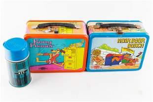Hong Kong Phooey and Hair Bear Lunch Boxes 70s