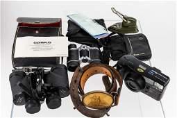 Binoculars and a Camera