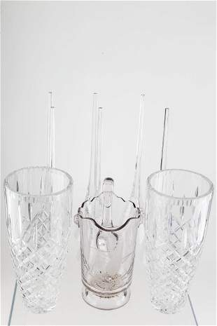 Large Crystal Vases and Epergne Inserts