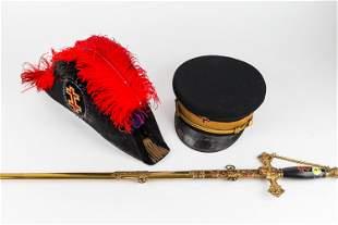 Sandilands Ornate Masonic Sword & Masonic Hat
