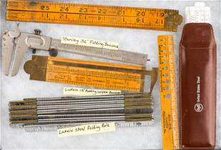Vintage Folding Rules and Related