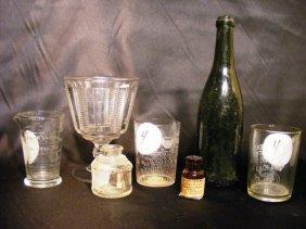 4: 7 early glass pcs