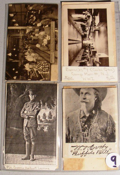 9: Western Postcards w/ Buffalo Bill, Maine Hermet