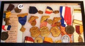 20: Patriotic Society Ribbons and Medals