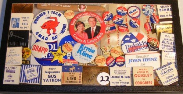 22: PA State Political Pinbacks;