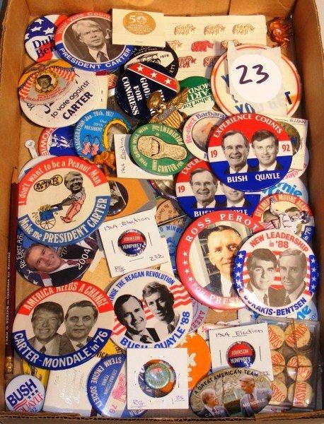 23: Political National Level Pinbacks