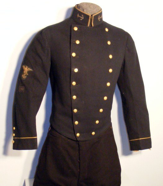 1: Early Naval Academy Uniform, c 1868-1881