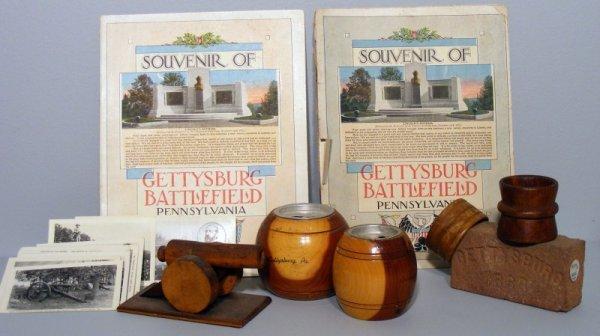 2: Grouping of Gettysburg Battlefield Souvenirs