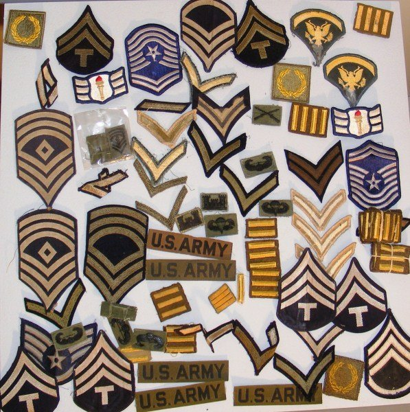 13: WWII - Vietnam Army & Air Corp Rank Insignia