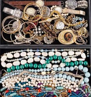 Costume Jewelry & Watches (2 Trays)