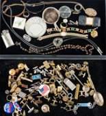Cufflinks & Mixed Costume Jewelry (2 Trays)