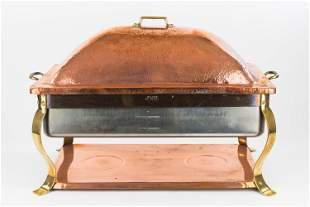 Waldow Copper & Brass Professional Buffet Server