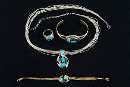 Native Sterling Silver Jewelry w/ Mixed Inlay