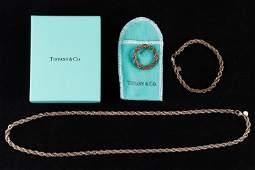Tiffany & Co. 18k & Sterling Silver Set