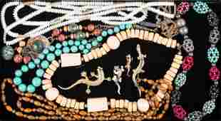 Statement Necklaces & Lizard Pins